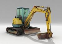 3d model excavator