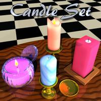 3d candles elegant