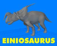 einiosaurus dinosaur 3d model