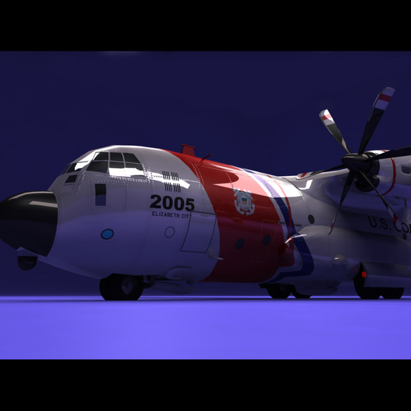 3d coast guard hc-130j model - US Coast Guard HC-130J... by PerspectX