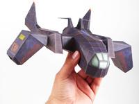 3d papercraft combat ship
