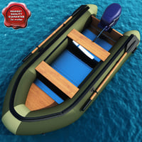3ds max inflatable motor boat