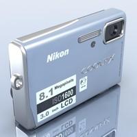 nikon coolpix s51 camera 3d model