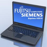 3d notebook fujitsu-siemens esprimo v5515