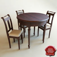 Round Dinner Table and chairs