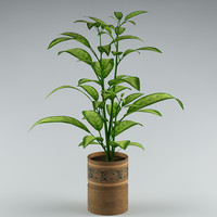 3ds plant flowerpot