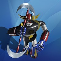 toy robot warrior 3d model