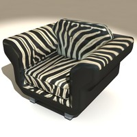 chair zebra 3d max