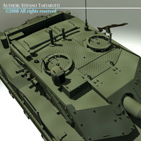 3d model ariete battle tank