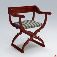 chair old fashioned 3d 3ds