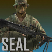 seal jungle version mk 3d model