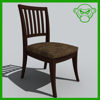 3d desk chair model