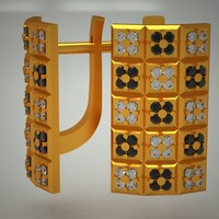 gold jewels jewellery 3d model