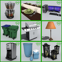 3d house stuff set