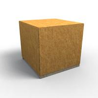 maya wooden crate