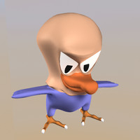 3d model young eagle character