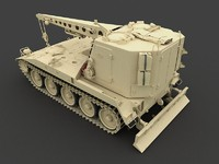 3d model m578 light armored recovery