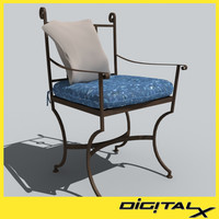 3d model patio chair