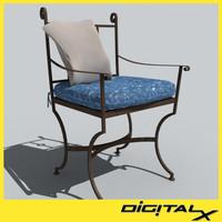3d model patio chair