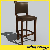 chair stools 3d 3ds