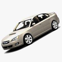 2009 subaru legacy gt 3d model