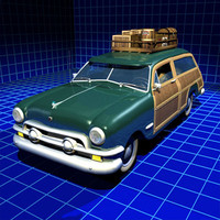 woody auto sedan double 3d 3ds