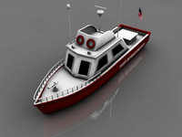 3d model fireboat boat