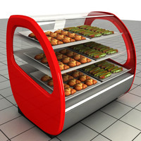 display fridge 3d model