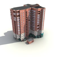 low-poly building 01 3d model