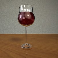 3d bourgogne wine glass model