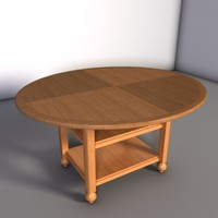 dining room table 3d lwo