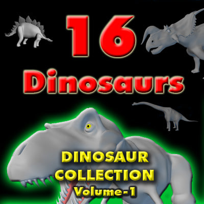 dinosaur collection volume 1 triceratops 3d model