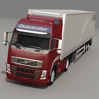 Volvo Truck with trailer 02