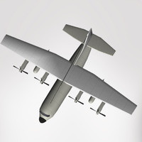 transport lockheed c-130 hercules 3d model