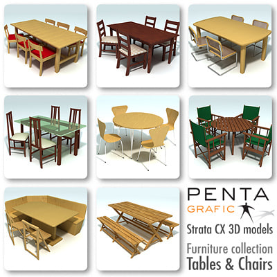 strata tables chairs vol 3ds