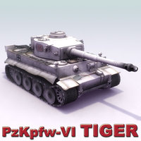 3d pzkpfw-vi tiger heavy tank model