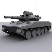 usa tank m551 sheridan 3d model
