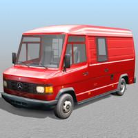 mercedes van 3d model