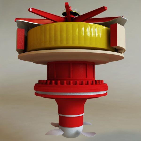3d hydroelectric power generator v1 model