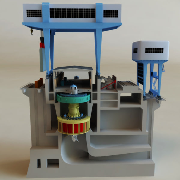 3D Model of Hydroelectric Power Generator V2 By 3d_molier ...