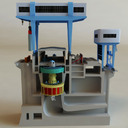 Hydroelectric power generator 3D models