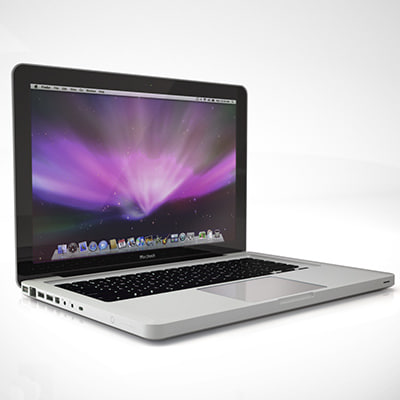3d apple macbook led model - Apple MacBook LED aluminum... by wither.org