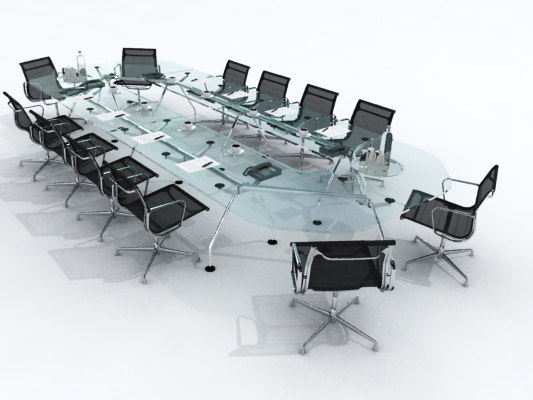conference table 3d model -> Model Table Tele