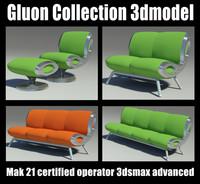 gluon sofa 3d model