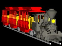 3d amusement park train