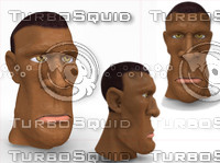 cartoon head man 3d max