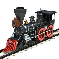 3ds max old style steam locomotives