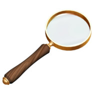 elegant magnifying glass 3d ma