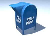3ds max usps mailbox