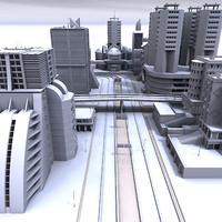 3d model modern city